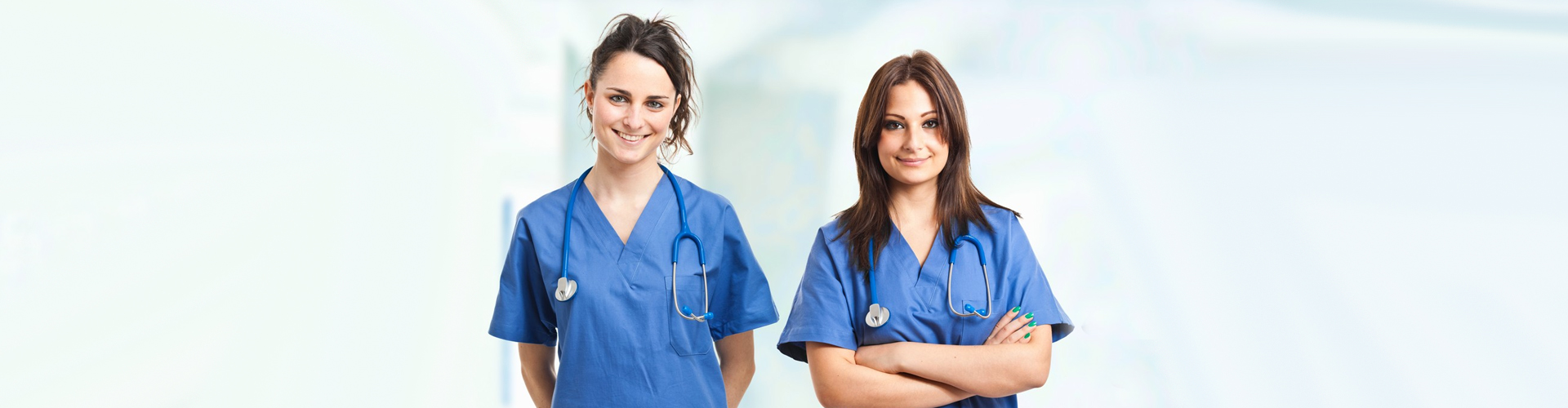 two nurses smiling